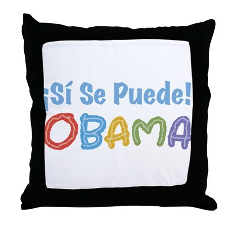 �Si Se Puede! Obama Throw Pillow