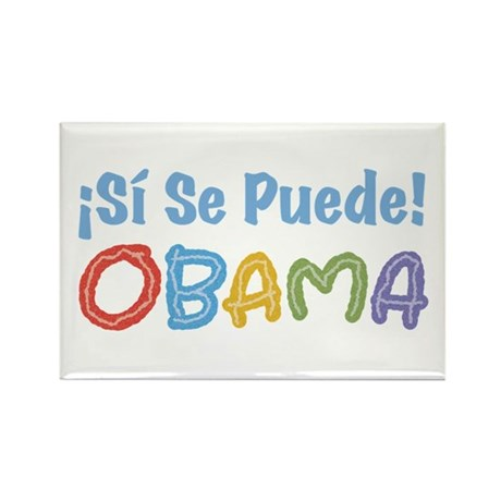 �Si Se Puede! Obama Rectangle Magnet