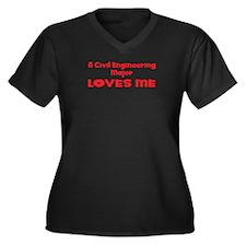 A Civil Engineering Major Loves Me Women's Plus Si