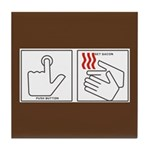 Press Button Get Bacon Tile Coaster