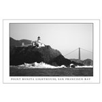 Black + white lighthouse Marin Headlands Sausalito