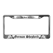 The soul of a German Shepherd  License Plate Frame