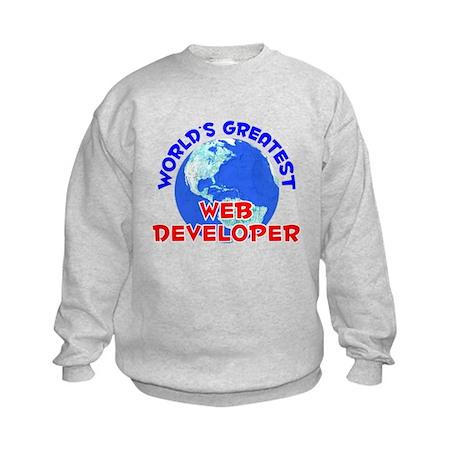 World's Greatest Web d.. (E) Kids Sweatshirt