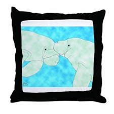 Manatee Pair Throw Pillow