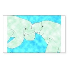 Manatee Pair Rectangle Decal