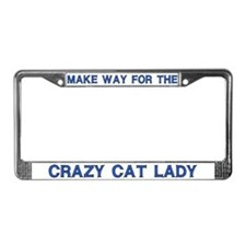 Crazy Cat Lady License Plate Frames