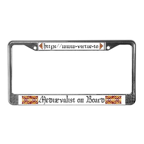 Mediaeval Website License Plate Frame