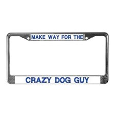 Crazy Dog Guy License Plate Frames