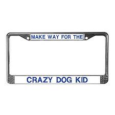 Crazy Dog Kid License Plate Frames