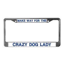 Crazy Dog Lady License Plate Frames