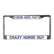 Crazy Horse Guy License Plate Frame