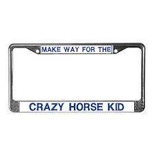 Crazy Horse Kid License Plate Frames