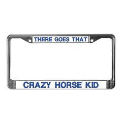 Crazy Horse Kid License Plate Frame