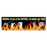 In Case of the Rapture Bumper Bumper Sticker