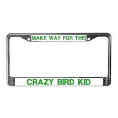 Crazy Bird Kid License Plate Frames