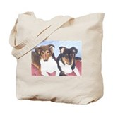 Collie Pups Tote Bag