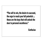 Confucius Personal Excellence Quote Small Poster