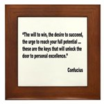 Confucius Personal Excellence Quote Framed Tile