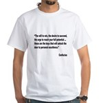 Confucius Personal Excellence Quote White T-Shirt