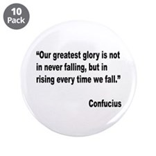 "Confucius Greatest Glory Quote 3.5"" Button (10 pac"