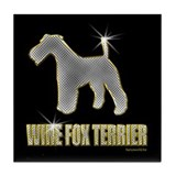 Bling Wire Fox Terrier Tile Coaster
