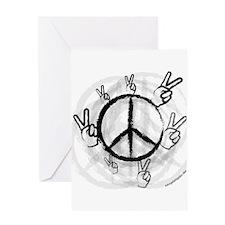 Peace Symbol & Sign Greeting Card