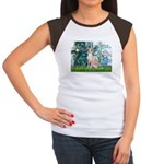 Lilies / Ital Greyhound Women's Cap Sleeve T-Shirt