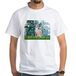 Lilies / Ital Greyhound White T-Shirt
