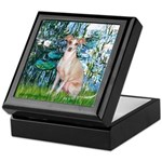 Lilies / Ital Greyhound Keepsake Box