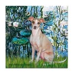 Lilies / Ital Greyhound Tile Coaster