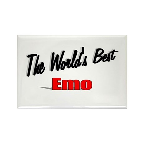 """The World's Best Emo"" Rectangle Magnet"