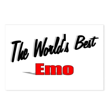 """The World's Best Emo"" Postcards (Package of 8)"