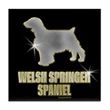 Bling Welsh Springer Tile Coaster