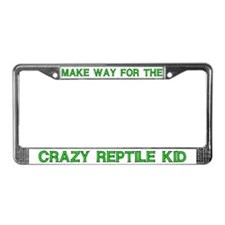 Crazy Reptile Kid License Plate Frames