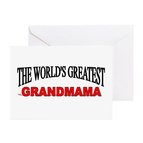 """The World's Greatest Grandmama"" Greeting Cards (P"