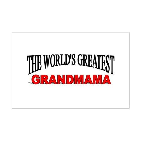 """The World's Greatest Grandmama"" Mini Poster Print"