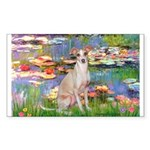 Lilies / Ital Greyhound Sticker (Rectangle)