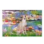 Lilies / Ital Greyhound Postcards (Package of 8)