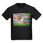 Lilies / Ital Greyhound Kids Dark T-Shirt