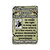 """Jefferson: Keep & Bear Arms"" Magnet"