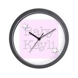 Cute Kaylie Wall Clock