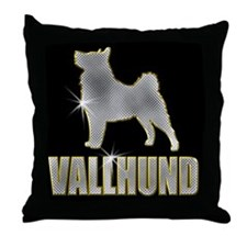 Bling Vallhund Throw Pillow
