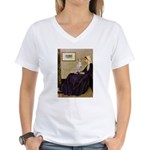 Whistler's / Ital Greyhound Women's V-Neck T-Shirt