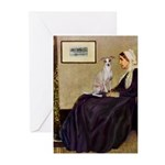 Whistler's / Ital Greyhound Greeting Cards (Pk of