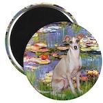 Lilies / Ital Greyhound Magnet