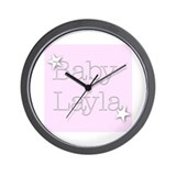 Cute Layla Wall Clock