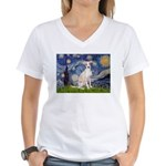 Starry Night / Ital Greyhound Women's V-Neck T-Shi