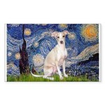 Starry Night / Ital Greyhound Sticker (Rectangle)