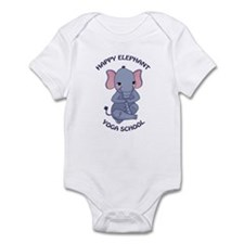 Happy Elephant Yoga Logo Body Suit
