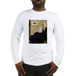 Whistler's Mother Maltese Long Sleeve T-Shirt